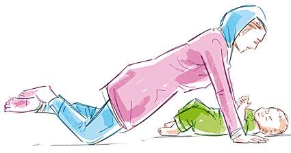 Hotnaz com   38b7ca4b1e2516b37a521fc23f44373e1 چطور با نوزادتان ورزش کنید؟