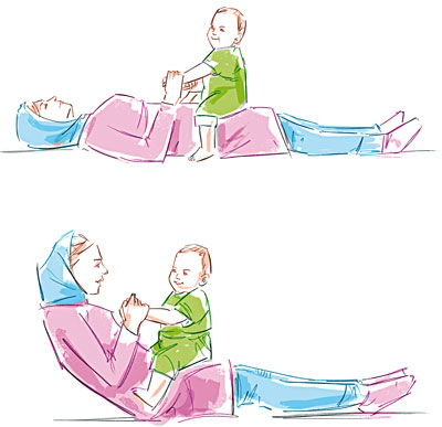 Hotnaz com   8a17812dc02a2c50d6aaaea21da4c676 چطور با نوزادتان ورزش کنید؟