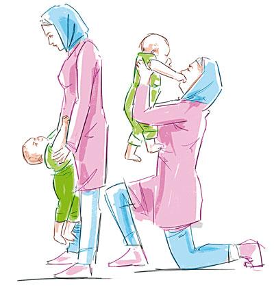 Hotnaz com   d53283859f5b8fb215ccc955c1e630a8 چطور با نوزادتان ورزش کنید؟