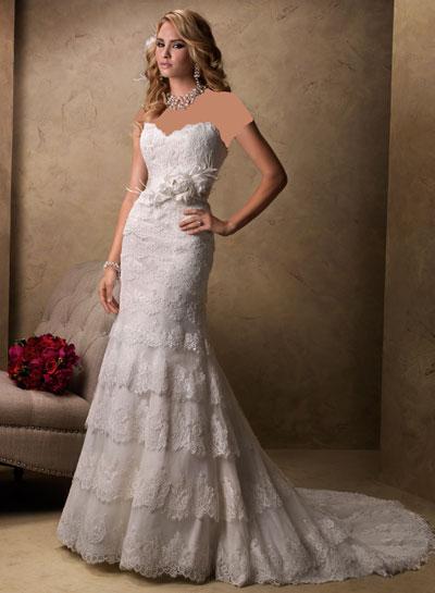 لباس عروس رنگی