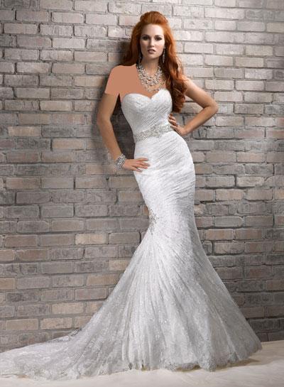 مدل لباس عروس رنگی