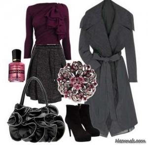 ست لباس زنانه،ست لباس زنانه پاییزه،لباس زنانه پاییزه،ست پاییزه،